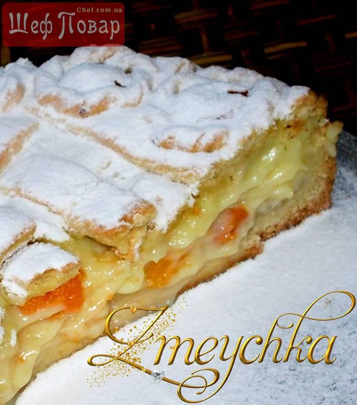 песочный торт с заварным кремом рецепт с фото